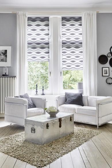 duo rollo trendy lichtblick duorollo klemmfix ohne bohren grau cm x cm b x l klemmfix rollos. Black Bedroom Furniture Sets. Home Design Ideas